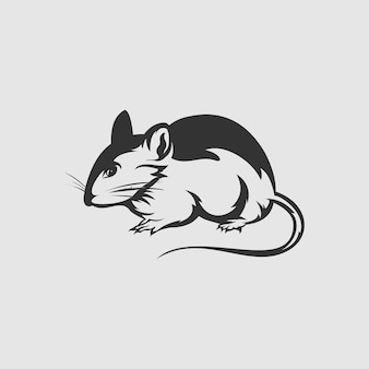 Vecteur de conception de logo de rat