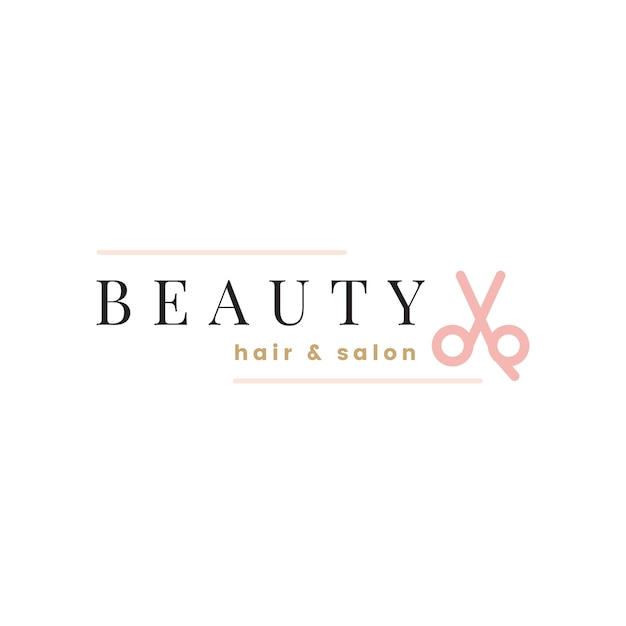 Vecteur de conception de logo de salon de beauté