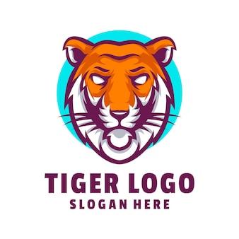 Vecteur de conception de logo de tigre