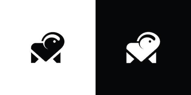 Vecteur de conception de logo de vecteur d'éléphant vecteur premium