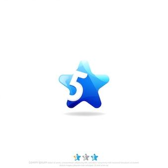 Vecteur de conception de logo vectoriel étoile