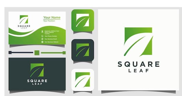 Vecteur de conception de logo vert feuille nature