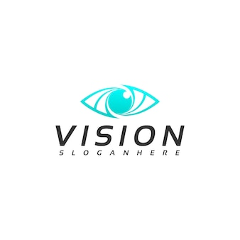 Vecteur de conception de logo de vision oculaire