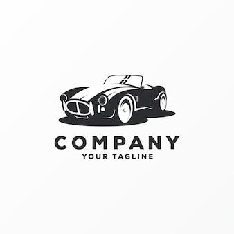Vecteur de conception de logo voiture génial