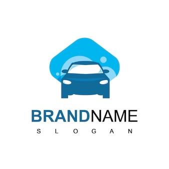 Vecteur de conception de logo de voiture isolé sur fond blanc