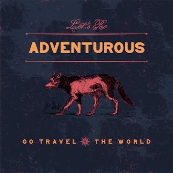 Vecteur de conception de logo voyage aventureux