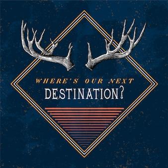 Vecteur de conception de logo de voyage de destination