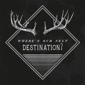 Vecteur de conception de logo de voyage destination