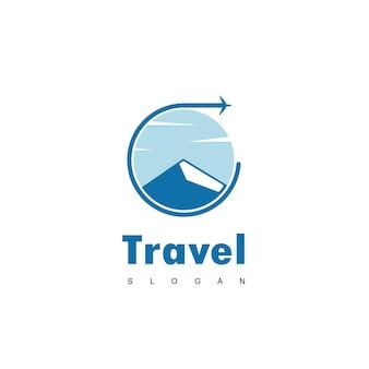 Vecteur de conception de logo de voyage