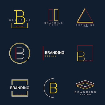 Vecteur de conception de marque minimal