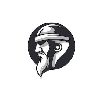 Vecteur de conception de mascotte beardy ride