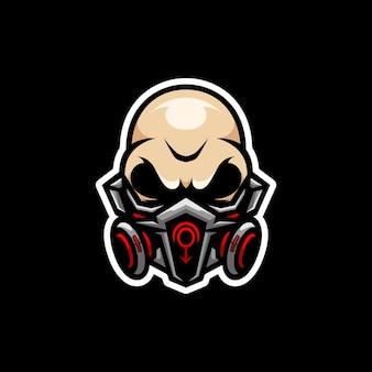 Vecteur de conception de mascotte de crâne