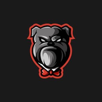 Vecteur de conception de mascotte de cravate de chien