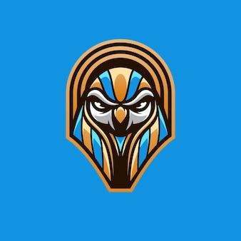 Vecteur de conception de mascotte horus