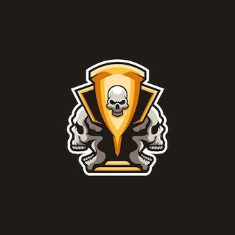 Vecteur de conception de mascotte trophée de la mort