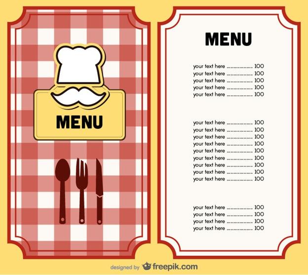 Vecteur de conception de menu couverture