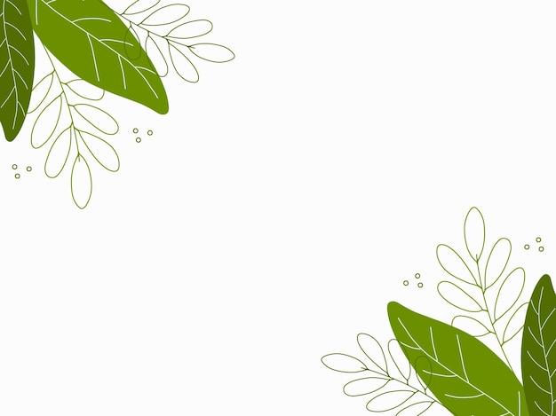 Vecteur de conception minimale de fond floral dessiné à la main
