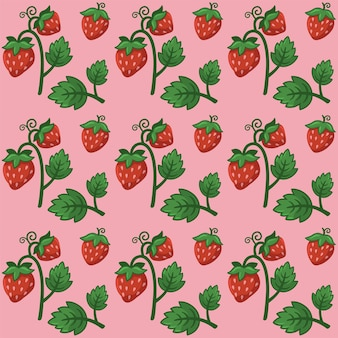 Vecteur de conception de modèle de fruit de fraise