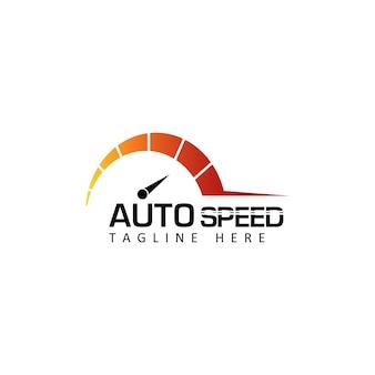 Vecteur de conception de modèle de logo de compteur de vitesse