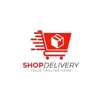 Vecteur de conception de modèle de logo de livraison de magasin