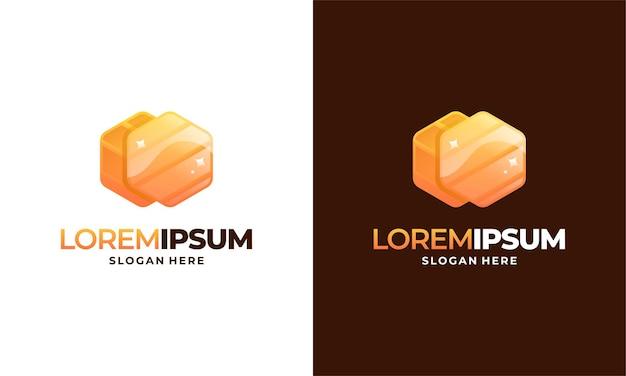 Vecteur de conception de modèle de logo de peigne de miel moderne, emblème, concept de conception de miel, symbole créatif,