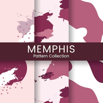 Vecteur de conception de modèle de memphis rose