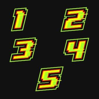 Vecteur de conception de numéro de course