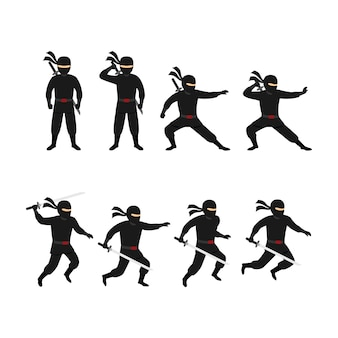 Vecteur de conception de personnage ninja