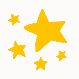 Vecteur de conception plate autocollant étoiles