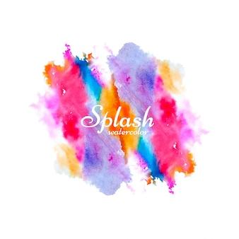 Vecteur de conception splash aquarelle coloré moderne