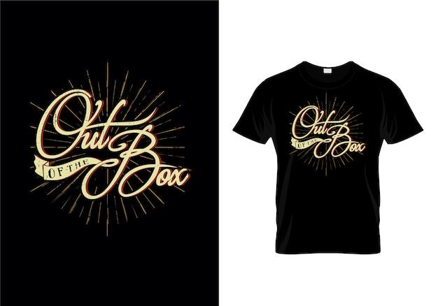 Vecteur de conception de t-shirt de typographie de la boîte