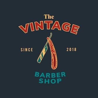 Vecteur de conception de texte vintage barber shop