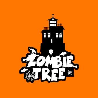 Vecteur de conception de typographie zombie party