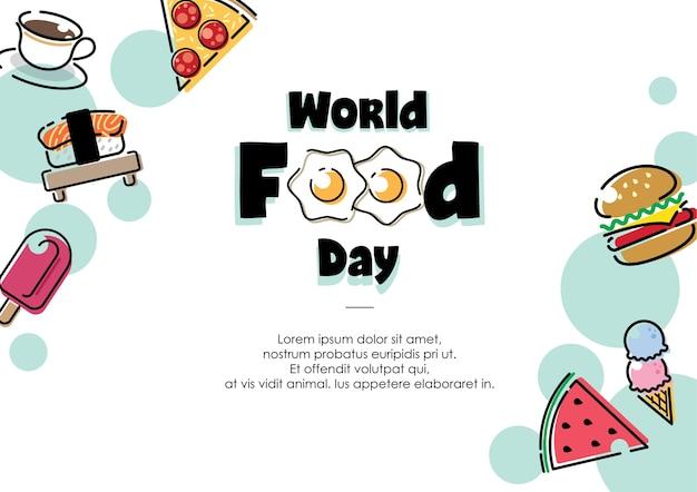 Vecteur conceptuel de la journée mondiale de l'alimentation