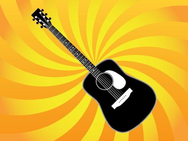 Vecteur de concert de guitare classique en direct
