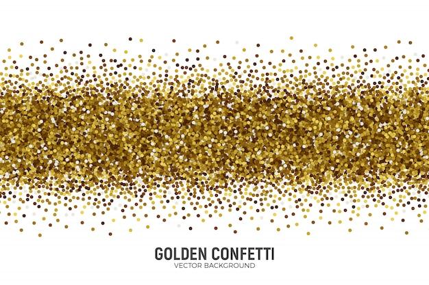 Vecteur confetti doré épars