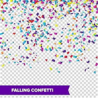Vecteur de confettis chute