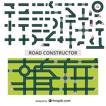 Vecteur de constructeur de route