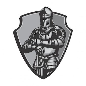 Vecteur de costume de chevalier agen middlebury