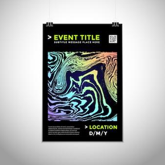 Vecteur de couleurs dégradées vibrantes formes abstraites modèle de conception d'affiche moderne dynamique brochure à la mode maquette invitation flyer mise en page fond sombre créatif minimal sur le mur