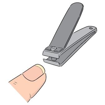 Vecteur de coupe-ongles