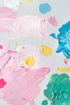 Vecteur de coups de pinceau acrylique coloré