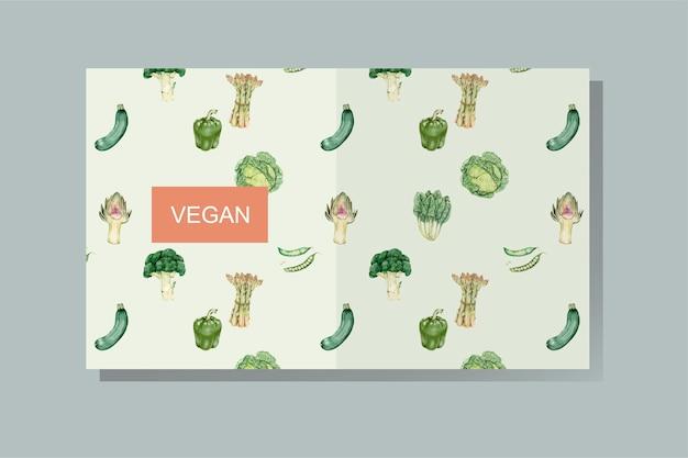 Vecteur de couverture de livre végétalien