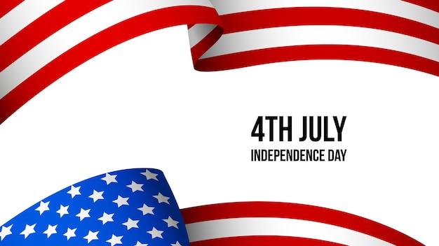 Vecteur de couverture de modèle de fête de l'indépendance des états-unis d'amérique 4 juillet