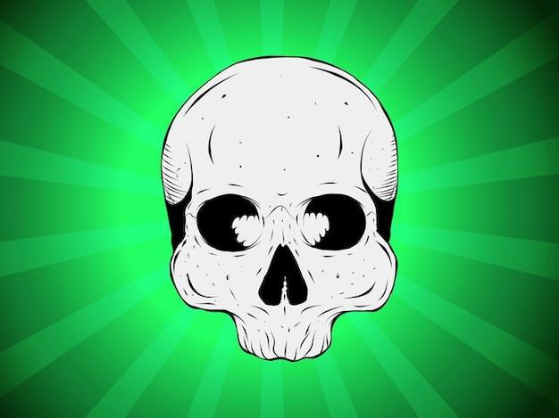 Vecteur de crâne absinthe