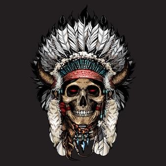 Vecteur de crâne apache