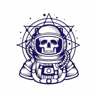 Vecteur de crâne astrounot