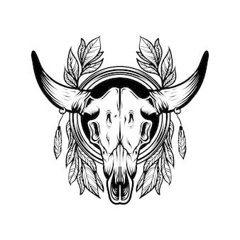 Vecteur de crâne de chèvre