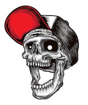 Vecteur de crâne hardcore