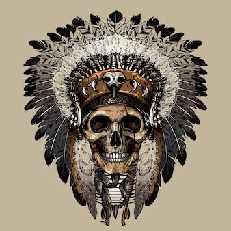 Vecteur de crâne indien
